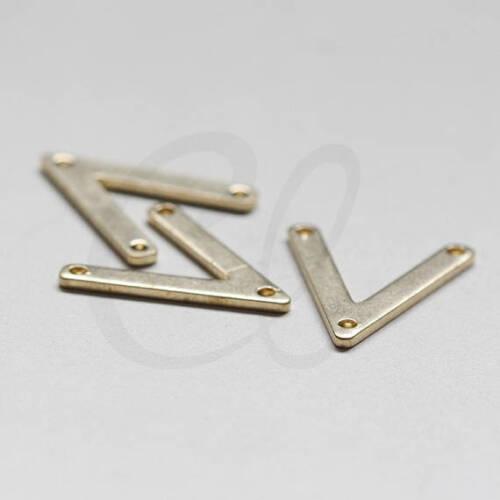 3852C-D-469 30 Pieces Raw Brass Arrow Charm with 3 Holes Triangle 16.5x14.4mm