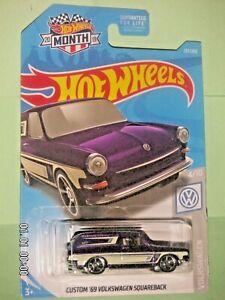 Hot Wheels Custom '69 Volkswagen Squareback Ppurple 2019 #137 Volkswagen 4//10