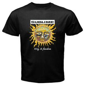 756f57908 New SUBLIME 40oz. to Freedom Ska Punk Rock Band Men's Black T-Shirt ...