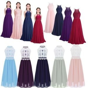 9f477c3453 Image is loading Flower-Girls-Dress-Bridesmaid-Wedding-Formal-Graduation- Kids-
