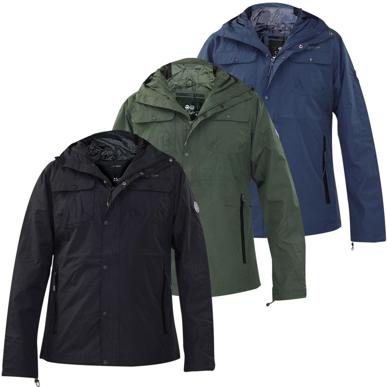 New Mens Crosshatch Jacket Zip Up New Water Resistant Sports Coat WindProof