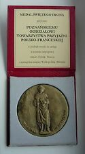 SAINT YVES PATRON BRETAGNE POLOGNE POLISH FRENCH FRIENDSHIP  MEDAL boxed