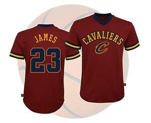 competitive price 98158 9bb0d Details about NBA Teen Boys Basketball Mesh Fashion Short Sleeve Shirt  Cavaliers Lebron James