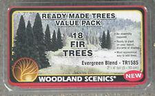 "18 Ready Made Model Railroad EVERGREEN BLEND TREES Woodland Scenics 2""-4"" # 1585"