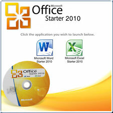 MICROSOFT OFFICE 2010 STARTER DVD FOR WINDOWS 7 *WORD 2010 & EXCEL 2010*