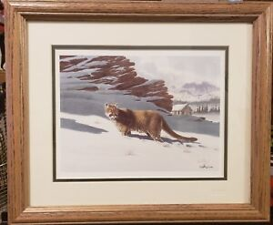 Don-Balke-Signed-Cougar-in-Snow-Lithograph