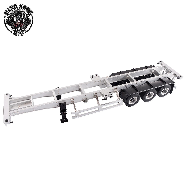 Escala 1 14 de metal Contenedor de 40 Pies Semi-Remolque para Tamiya 1 14 RC Camión Tractor