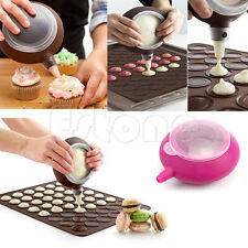 Silicone Macaron Baking Decorating Pen Pastry Cream Cake Muffin 5 Nozzle Set