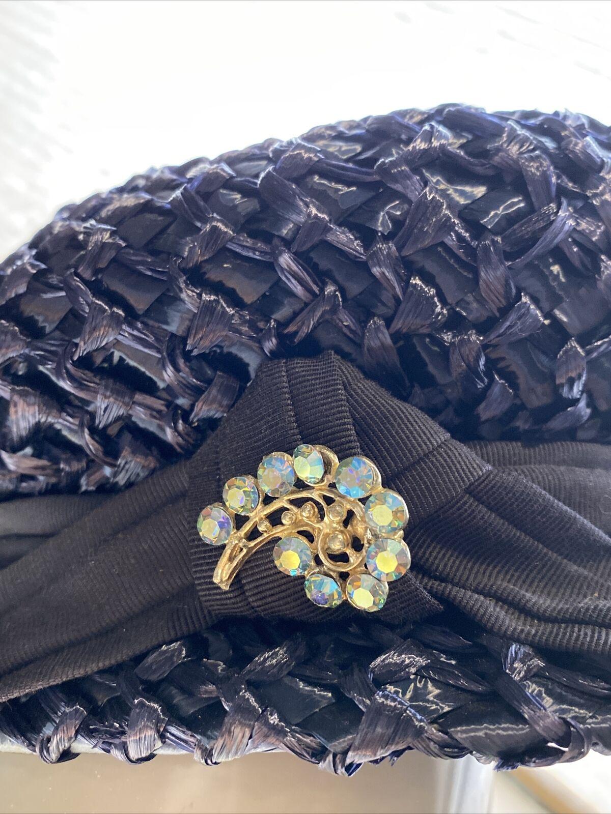 An Original Lady Byrd Creation Blue Hat c.1960's - image 5