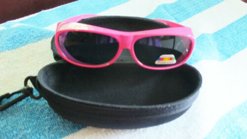 Great for Motorcycle! Women/'s Pink Wrap Around Polarized Sunglasses with Case
