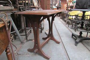 ancienne petite table art nouveau acajou epoque 1900 bureau bistrot ebay. Black Bedroom Furniture Sets. Home Design Ideas