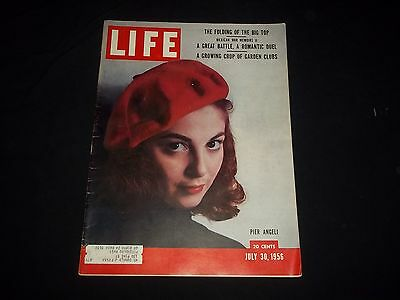 1956 JULY 30 LIFE MAGAZINE - PIER ANGELI - BEAUTIFUL FRONT COVER - GG 700