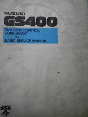 Basic GS400 Suzuki Control USED 400 GS To Supplement Service Manual Emissions 18w55qd