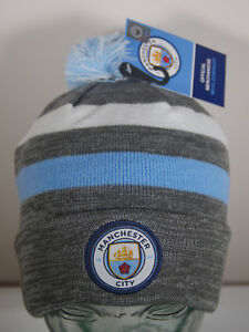1680e598aa7 NEW Manchester City FC Beanie Ski Hat Winter Soccer Official License ...