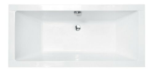 Badewanne Wanne Rechteck Bad Acryl 175 x 80 cm Ab und Überlauf Silikon GRATIS Q