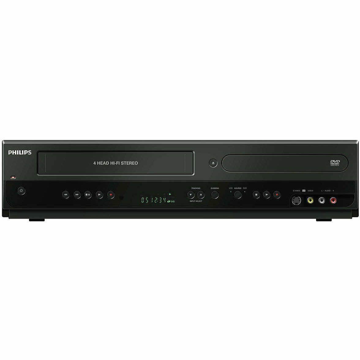 philips combo dvd vcr recorder dvdr3385v f7 vhs hdmi. Black Bedroom Furniture Sets. Home Design Ideas