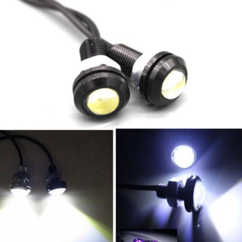 12V LED Round Car Daytime Running Light DRL Head Lamp Eagle Eye White Light