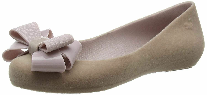 Zaxy Pop Flock Bow Luxe Mink Damenschuhe Ballerinas Flats Schuhes