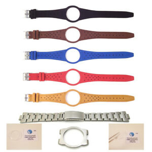 Mens-Watch-Strap-Band-For-OMEGA-DYNAMIC-Leather-Replacement-Silver-Buckle-S6