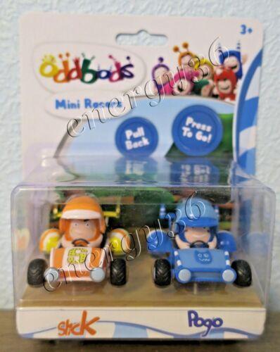 Oddbods Mini Racers Game set of 2 figures Slick and Pogo for children 3+