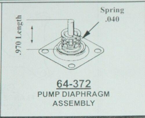 1957-67 FORD 2 BARREL MODEL 2100 ACCELERATOR PUMP DIAPHRAGM  .250 CENTER STEM