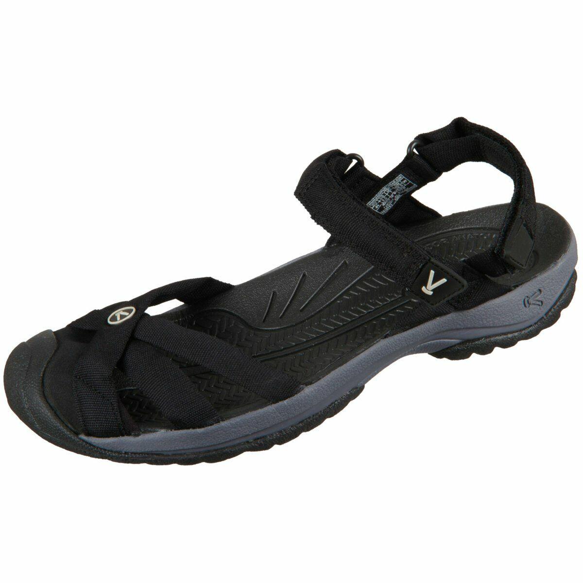 Keen Damen Sandaletten Bali Strap 1018783 black steel grey 1018783 schwarz