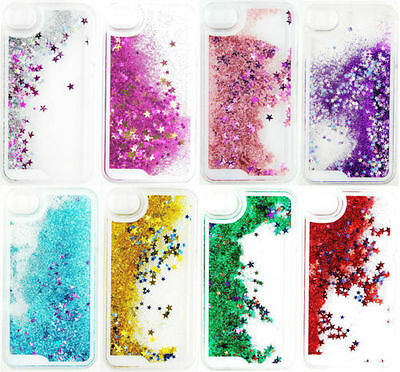 Clear Dynamic Liquid Glitter Bling Quicksand Case Cover For iPhone 5s 6 7 Plus