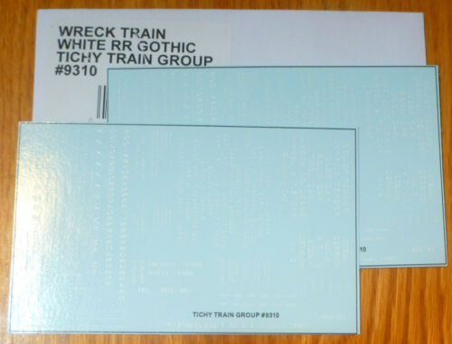 Railroad Gothic Wreck Train Dec Tichy Train Group HO #9310 Railroad Decal Set