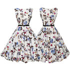 50'S 60'S ROCKABILLY DRESS Vintage Style Swing Pinup Retro Housewife Party Dress