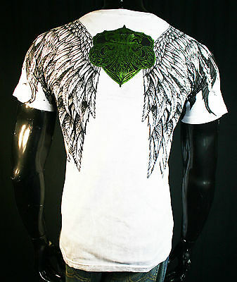 BNWT XZAVIER WHITE WINGED FLUER WARRIOR MENS MMA TEE M L XL XXL UFC
