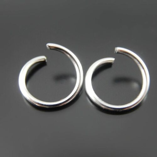 400 pcs Silver Stainless Steel Open Jump Rings Necklace Pendant Jewellery Crafts