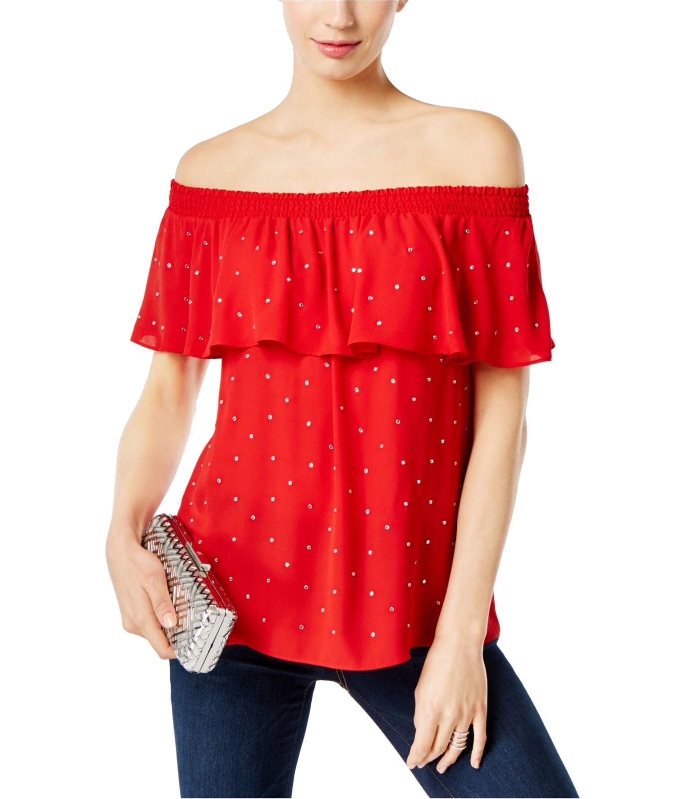 I-N-C damen Embellished Knit Blouse realrot L