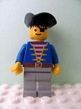 LEGO Minifig pi005 @@ Pirate Blue Jacket, Triangle Hat 1696 6254 6279 6285