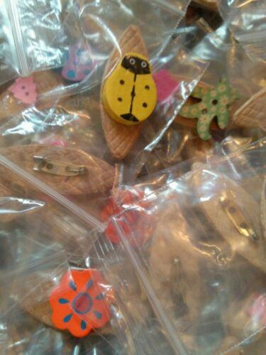 parti de sacs, fêtes, etc. JOB LOT 50 Brand New//fait main pour enfants en bois broches