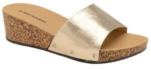 dorata piattaforma a Sabot Dunlop sughero per ambra in effetto donna xFUAw