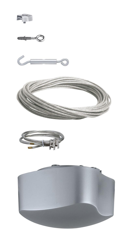 Paulmann cuerda completamente set 94003 Wire System 2 Easy base del sistema 105 10m gris 230