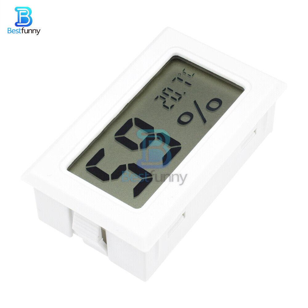 Mini White Digital LCD Thermometer Hygrometer Humidity Temperature Meter Indoor