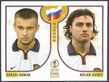 PANINI KOREA/JAPAN WORLD CUP 2002- #528-RUSSIA-SERGEI SEMAK / ROLAN GUSEV
