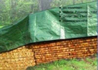 Gewebeplane Schutzplane Abdeckplane Garten Gewebe Plane mit Aluminium-Ösen 4x5m