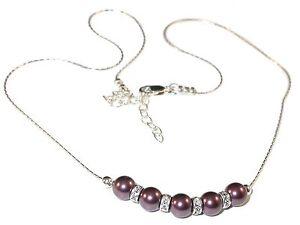 BURGUNDY-Pearl-Necklace-Bridal-Bridesmaid-Sterling-Silver-Swarovski-Elements
