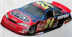 PLAQUE-METAL-vintage-USA-NASCAR-CHEVROLET-MONTE-CARLO-60-X-29-CM