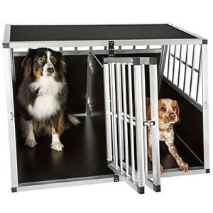 Large Dog Crate Sturdy Cage Car Transport Double Carrier