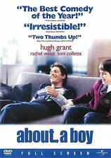 About a Boy ~ Hugh Grant ~ DVD Full Screen ~ FREE Shipping in USA