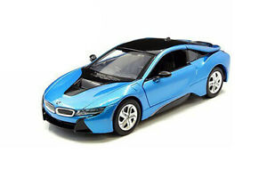 MOTORMAX-1-24-Scale-2018-BMW-i8-COUPE-DIECAST-MODEL-CAR-BLUE-79359