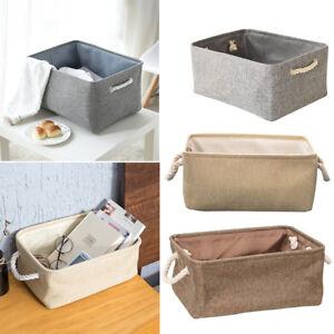 Laundry Storage Basket Hamper Box Closet Bin Box Foldable Basket