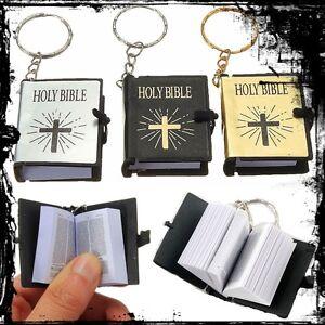 Schluesselanhaenger-Ring-Altes-Testament-Mini-Heilig-Englisch-Bibel-Buch