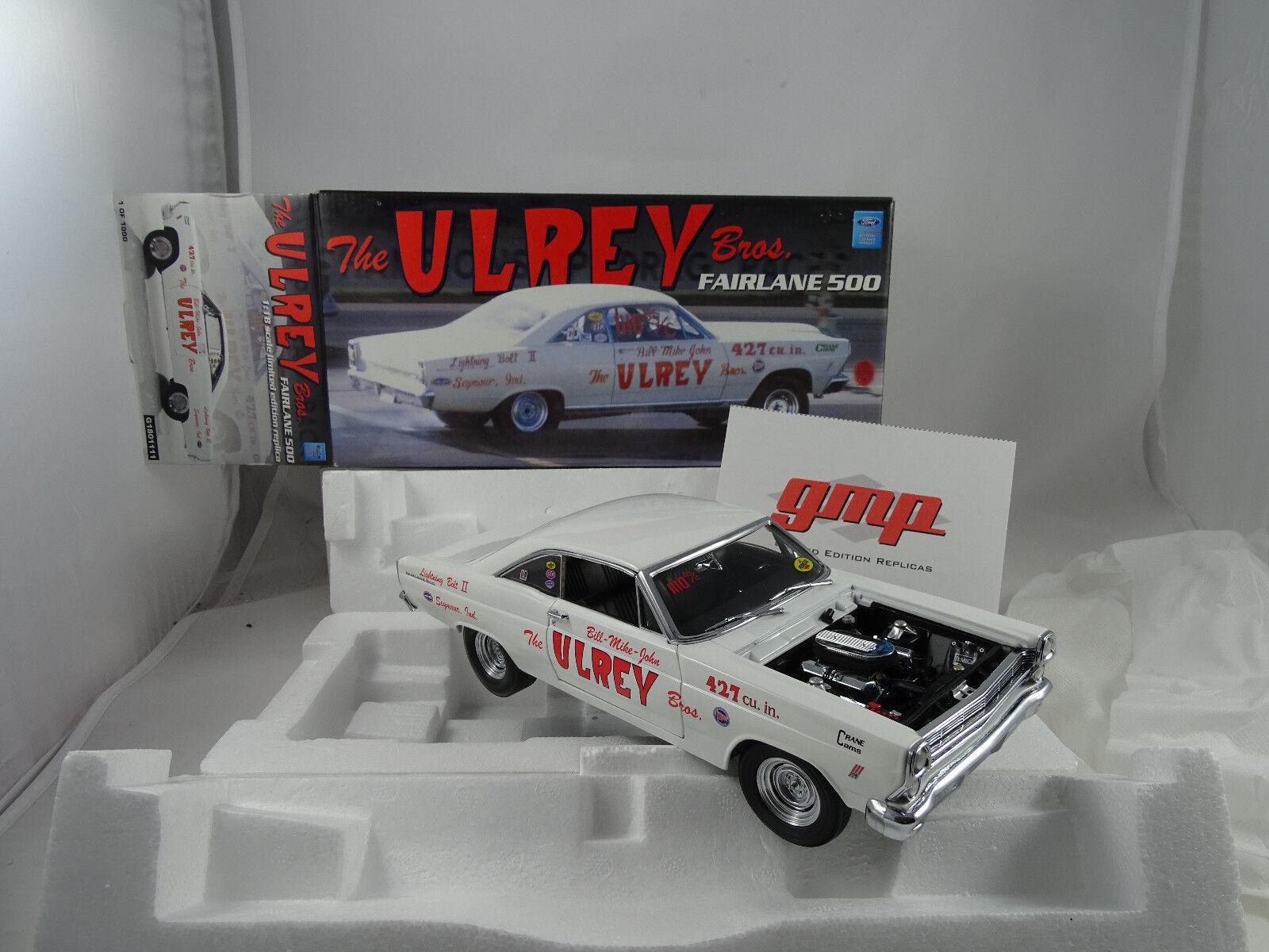 1 18 Gmp  G1801111 The Ulrey Bros. Fairlane 500 blancoo Limitado 1of 1000