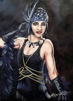 Original Painting Oil on Canvas Portrait  by GREGORY TILLETT : The Opera Gloves