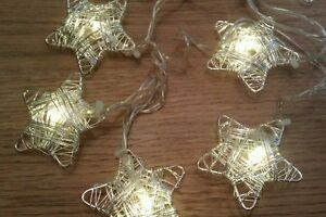 Stunning-10-Silver-Star-String-Fairy-lights-Ideal-For-Christmas-Table-Vase