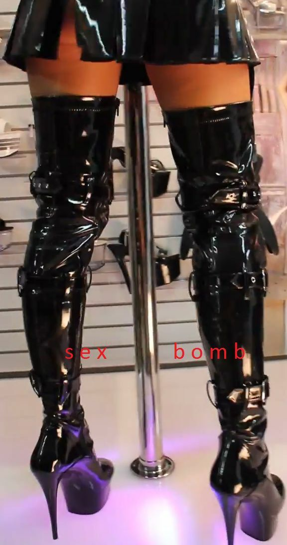 Los últimos zapatos de descuento para hombres hombres hombres y mujeres sexy STIVALI COSCIA tacco 15 plateau dal 36 al 44 NERO LUCIDO/OPACO cinghie ZIP 1da828